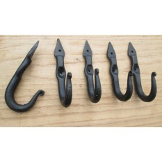 5 x Hand Forged Old Style Hooks