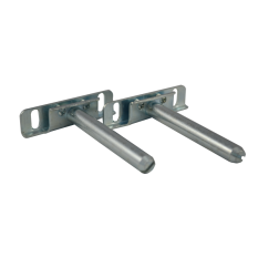 Pair of Concealed floating shelf bracket 82mm Zinc
