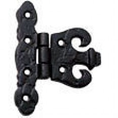 Pair Of Black Antique Cropped Hinges