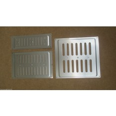 "9"" x 3"" Hit & Miss Vent Satin Aluminium"