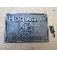 Cast Iron Hogwarts Express Plaque