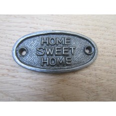 Cast Iron Home Sweet Home Plaque