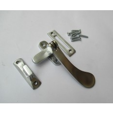 SATIN/BRUSHED CHROME-Victorian old style window fitting- Hook & Mortice Fastener