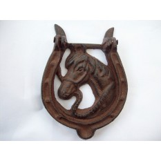 Horse shoe door knocker