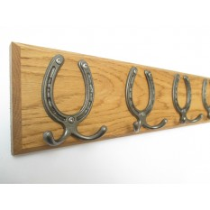 Small Horse Shoe Coat Hook Rail