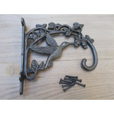 Humming Bird Hook Bracket Antique Iron