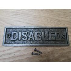 Cast Iron Disabled Plaque