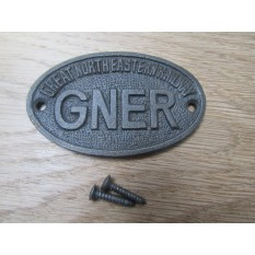 Cast Iron GNER Small Oval Plaque
