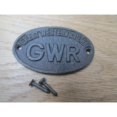 Cast Iron GWR Small Oval Plaque