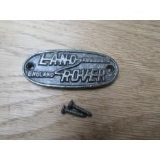 Cast Iron Land Rover Plaque
