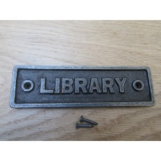 Cast Iron Library Plaque
