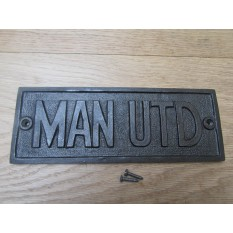 Cast Iron Man Utd Plaque