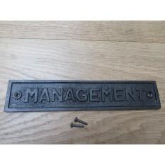 Cast Iron Management Plaque
