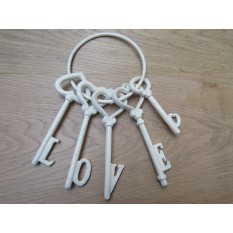Ornamental Jailers Key Set Cream