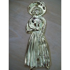 Steel Womens Door Sign Brass