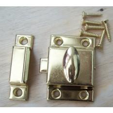 Large Steel cupboard catch 55mm Brass