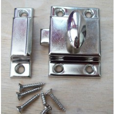 Large Steel cupboard catch 55mm Chrome