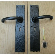 Pair of Large Door Barn Lever Lock Handle black