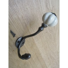 Pumpkin Ceramic Coat Hook Large Cream