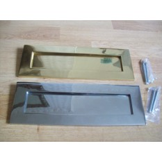 Large Solid Brass Postal Box Plate