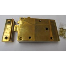 Solid Brass Construction Left Hand Latch Polished Brass