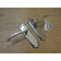 Lever Latch Door Handle Turin Polished Chrome