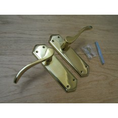 Lever Latch Door Handle Turin Polished Brass