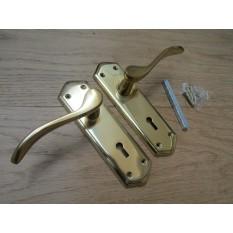 Lever Lock Door Handle Turin Polished brass