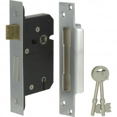 BS High Security 5 Lever Sashlock 64mm Satin Chrome