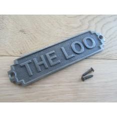 The Loo Plaque Antique Iron