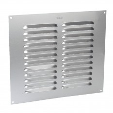 "9"" x 9"" Louvre Air Vent Silver"