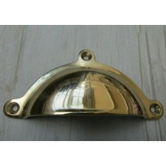 Royal lugged Cup Pull Handle Polished Brass