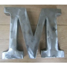 "8"" Large Rustic Steel Letter M"