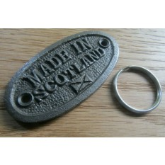 Made in Scotland Cast Iron Key Ring