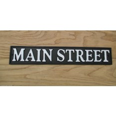"17"" Cast Iron Main Street Plaque"