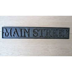 Cast Iron Main Street Plaque