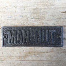 Cast Iron Manhut Plaque