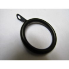 Pack Of 10 Metal Curtain Pole Rings Black