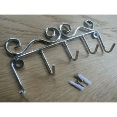 Key Hanger Tidy Polished Chrome Metal