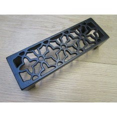 Floral Metric Air Brick Black Antique