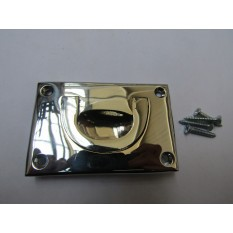 """3"""" Small Campaign Chest Handle Polished Chrome"""