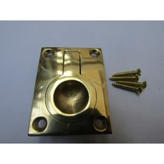 Small Rectangular Ring Pull Polished Brass
