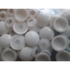 Pack of 25 Dome Screw Caps White