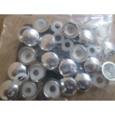 Pack of 25 Dome Screw Caps polished chrome