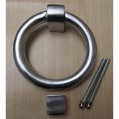 Modern Ring Door Knocker Satin Chrome