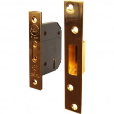 Yale BS 5 Lever Mortice Deadlock 64mm Polished Brass