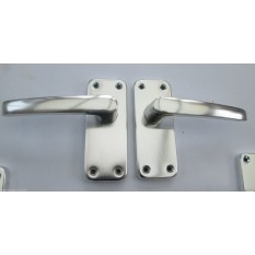 Mortise Polished Aluminium Lever Latch Handles