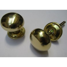Mortice Door knob Natural Brass Cottage