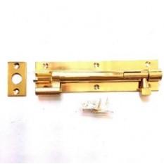 "4"" Necked Door Bolt Polished Brass"