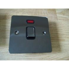 Black Nickel Switch Plate Neon Double Pole Switch